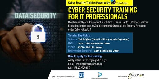 CYBER SECURITY TRAINING FOR IT PROFESSIONALS