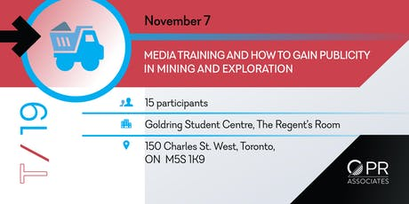 Media Training and How To Gain Publicity in Mining and Exploration tickets