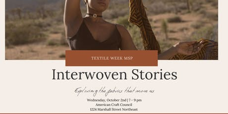 Interwoven Stories | A Night of Textile Tales tickets
