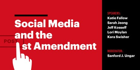 Social Media and the First Amendment, September 23rd tickets