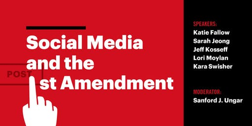 Social Media and the First Amendment, September 23rd