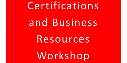 Vinton Co. Small Business Certifications and Business Resources Workshop