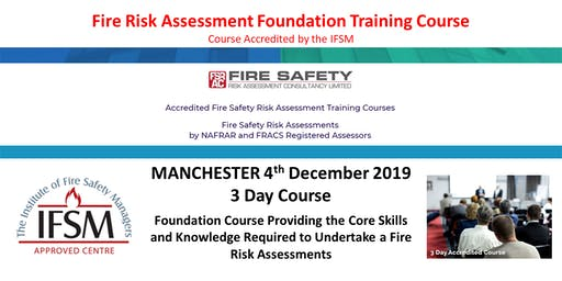 3 Day Fire Risk Assessment Foundation Training Course.