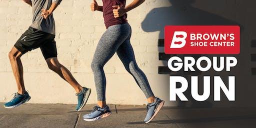 Brown's Shoe Center Group Run & Hoka Trunk Show