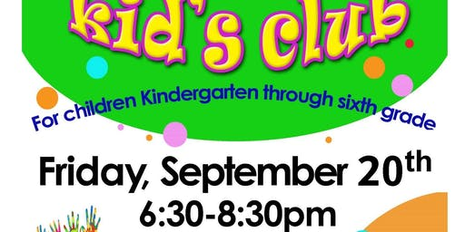 St. Paul's Moravian Church monthly Kid's Club