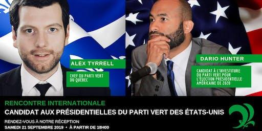 Rencontrez Dario Hunter, candidat présidentiel des Verts É-U!