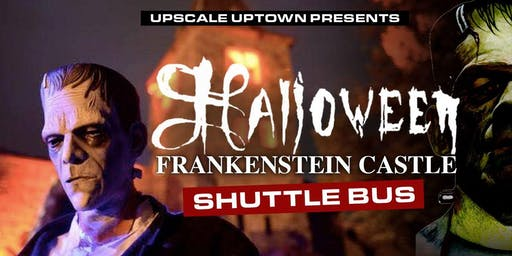 FRANKENSTEIN CASTLE HALLOWEEN SHUTTLE BUS