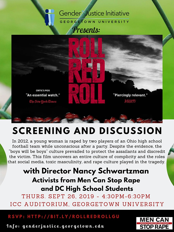 Roll Red Roll  Screening & Discussion: Let's talk about Rape Culture image