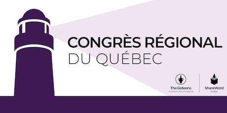 Congrès régional des Gédéons 2019 billets