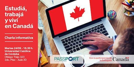 Estudiá, Trabajá y Viví en Canadá / Charla informativa entradas
