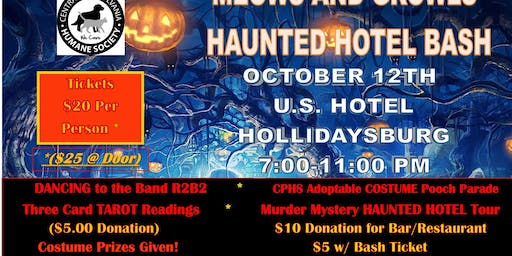 Meows & Growls Haunted Hotel Bash