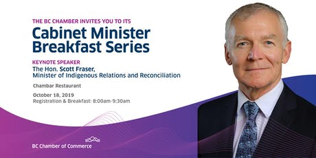 Cabinet Minister Breakfast Series: Hon. Scott Fraser tickets