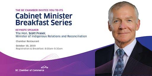 Cabinet Minister Breakfast Series: Hon. Scott Fraser