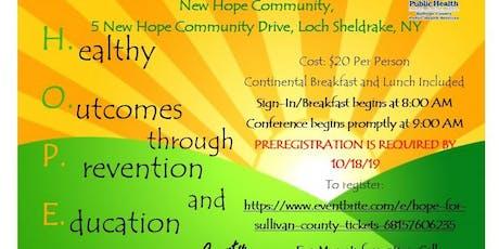 H.O.P.E. for Sullivan County tickets