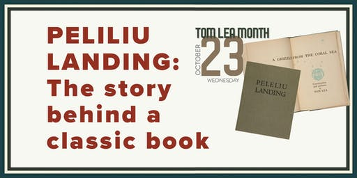 Peleliu Landing: The story behind a classic book A talk by Claudia Rivers