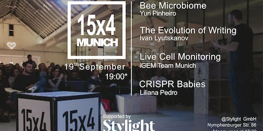 15x4 Talks: CRISPR Babies, Bee Microbiome, Writing & Cell Monitoring