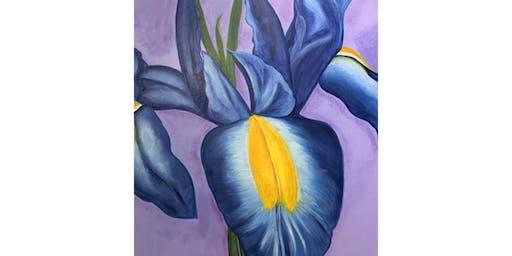 Paint it like Georgia O'Keeffe - Lavender Iris