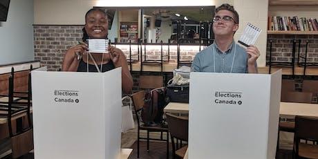 Engagement de la Democratic dans les communités: La formation de Vote PopUp tickets