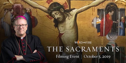The Sacraments Study Program Filming with Bishop Barron