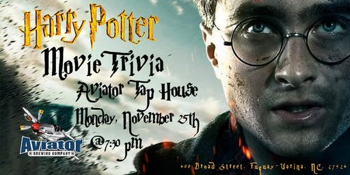 Harry Potter Movies Trivia at Aviator Taphouse
