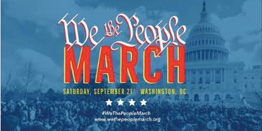 We the People March - Bus to DC from Hastings-on-Hudson NY - September 21st