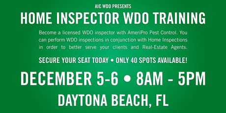 WDO Inspection Certification Course tickets