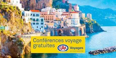 Conférence Voyages CAA-Québec à Terrebonne billets