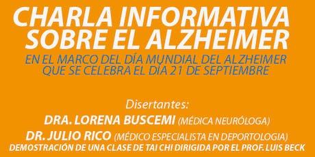 Charla Informativa sobre el Alzheimer entradas
