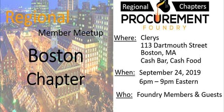 Boston Member Meetup - September 2019 tickets