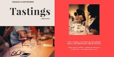 Tastings Vinísfera, prueba 1 vino natural y 2 vinos orgánicos.
