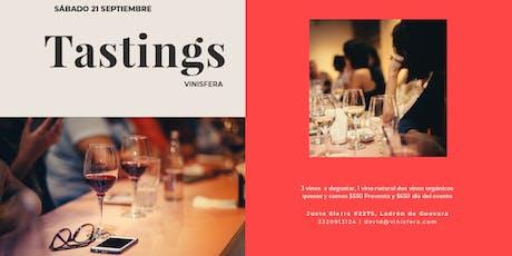 Tastings Vinísfera, prueba 1 vino natural y 2 vinos orgánicos. tickets