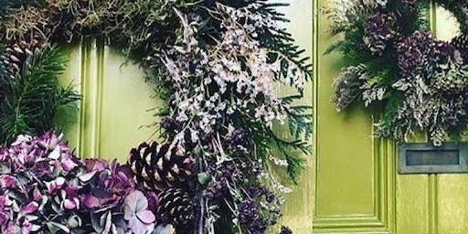 (SOLD OUT) Winter Wreath Making Workshop - The Railway Inn. Portslade