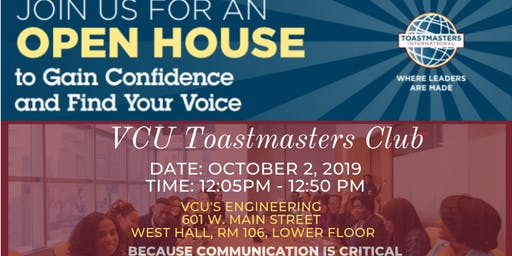 VCU Toastmasters Club Open House