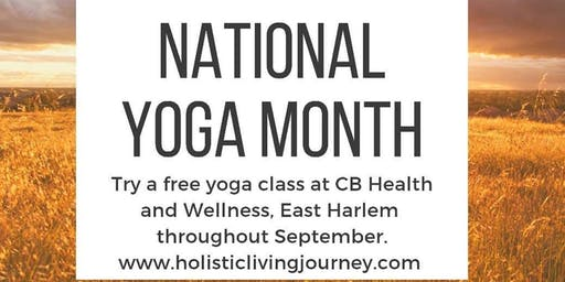Free Yoga Class during September