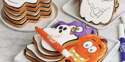 Kids Halloween cookie coloring