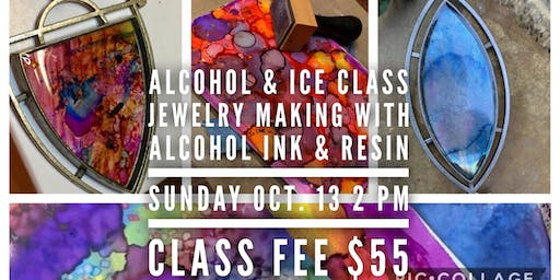 Alcohol & Ice: Jewelry Making with Resin and Alcohol Ink