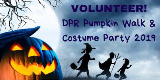 Volunteer Opportunity- DPR Pumpkin Walk 2019