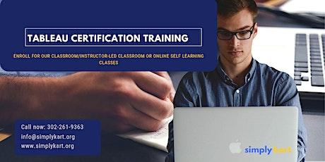 Tableau Certification Training in  Côte-Saint-Luc, PE tickets