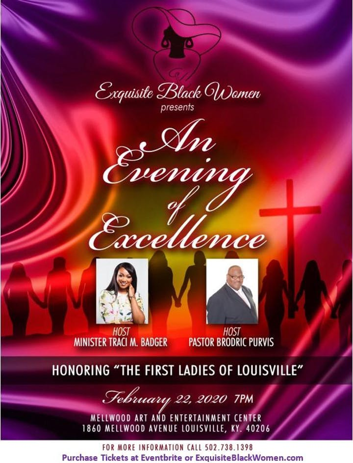 Louisville Events 2020.An Evening Of Excellence Honoring The First Ladies Of