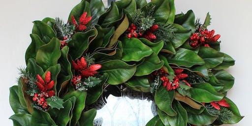 Fresh Magnolia Holiday Wreath Workshop