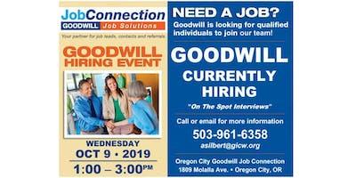 Goodwill is Hiring - Oregon City - 10/9/19