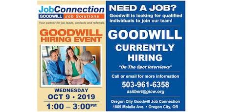 Goodwill is Hiring - Oregon City - 10/9/19 tickets