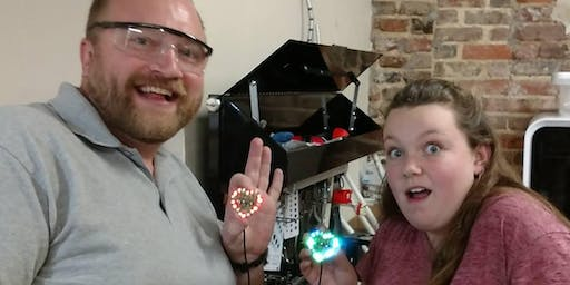 Make a Flashing LED Heart: Learn to Solder - Ladies Night Out!