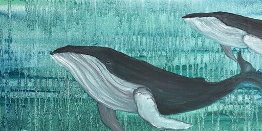 Brush Strokes For the Bays at Cowfish: Paint Nights for a Purpose! ~Humpback Whale