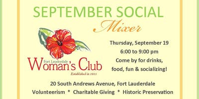Fort Lauderdale Woman's Club September Social Mixer