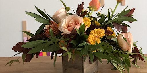 Rustic Petite Christmas Floral Arrangement