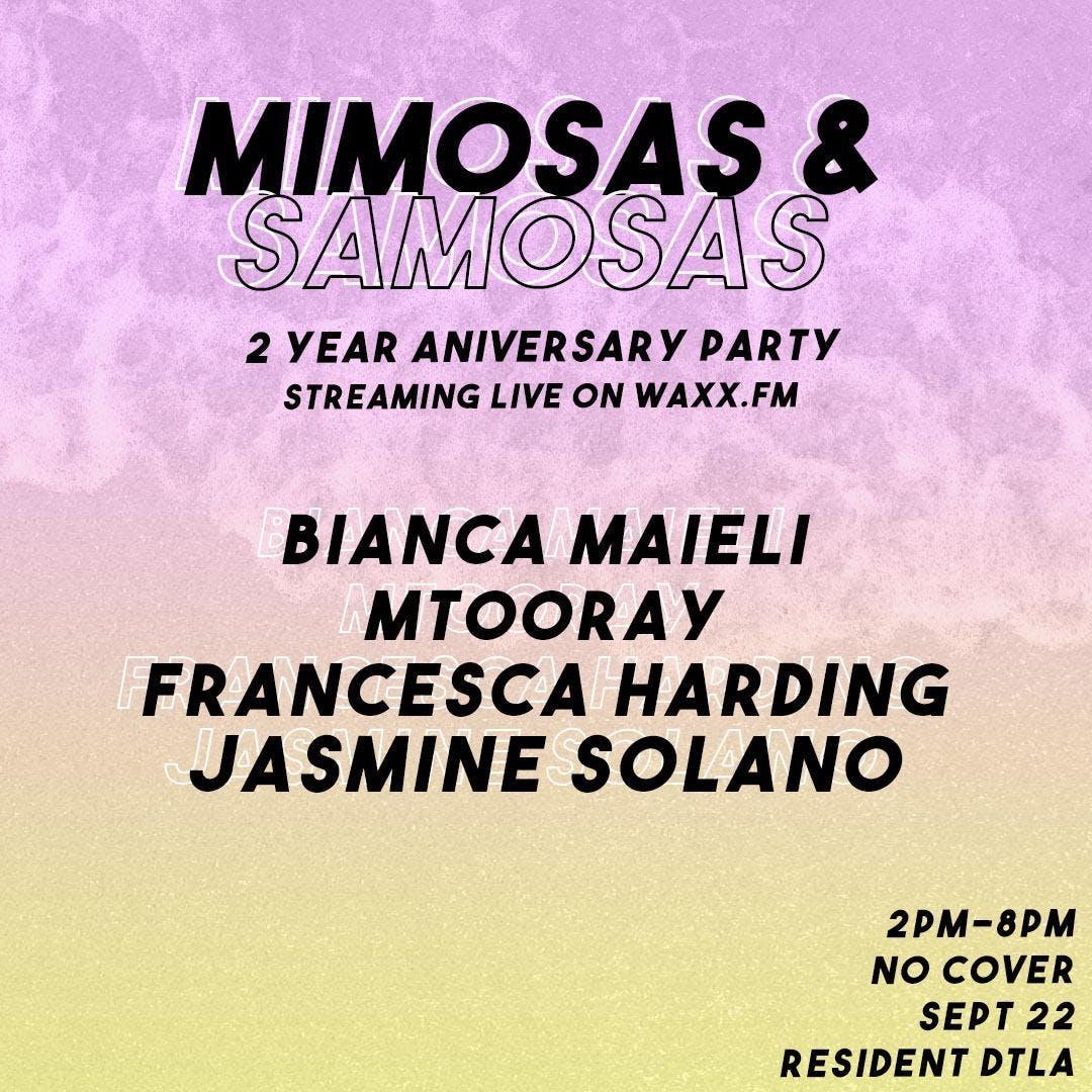 Mimosas & Samosas 2 YR Anniversary Party
