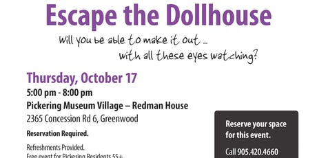 55+ Escape Room - Escape the Dollhouse tickets