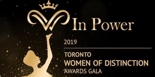 WIn Power TORONTO WOMEN of DISTINCTION AWARD GALA