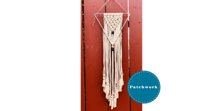 Patchwork Macrame Triangle Wall Hanging Craft Workshop tickets